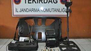 Malkarada 9 kaçak defineci gözaltına alındı