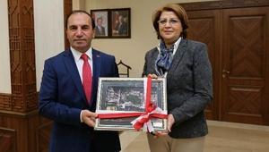 Azerbaycan Başkatibi'nden Vali Işık'a ziyaret