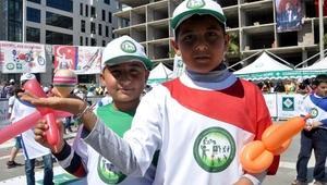 Çocuk oyunları festivalinde eğlendiler