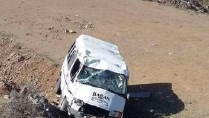 TEOG sınavından çıkan öğrencileri taşıyan minibüs devrildi: 6 yaralı