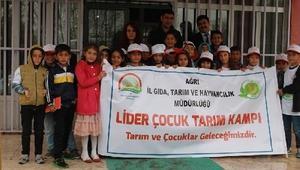 Ağrıda lider çocuk kampı uygulaması yapıldı