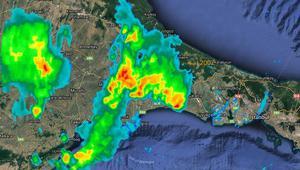 Son dakika: İstanbulda beklenen sağanak yağış başladı