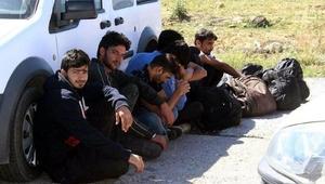 Tekirdağda 7 Pakistanlı kaçak yakalandı