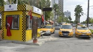 Mersinde taksi duraklarına modern dokunuş