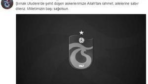 Trabzonspor'dan şehitler için başsağlığı mesajı
