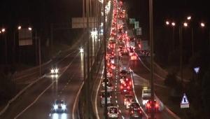 Silivride bayram dönüşü trafiği