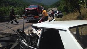 Bursa'da 2 otomobil çarpıştı: 1, ölü 9 yaralı