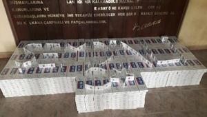 Şemdinlide kamyonetten 8 bin paket kaçak sigara çıktı