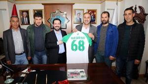 Aksaray Belediye Başkanına, Eşmekaya Belediye Başkanından ziyaret