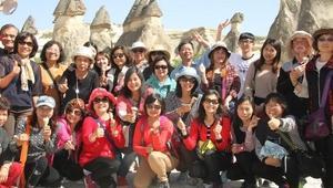 Kapadokyaya Çinli turist akını