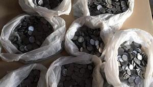 Elazığda, 1960-1970 basımı 3500 adet madeni para bulundu