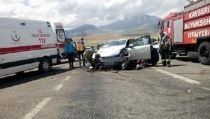 Kayseri'de zincirleme kaza: 1 ölü, 10 yaralı