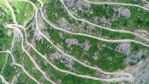 Bayburt- Trabzon sınırında dünyanın en tehlikeli yolu