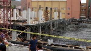 Hastane inşaatında göçük: 8 işçi yaralandı
