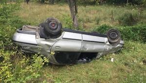 Karabükte otomobil takla attı: 4 yaralı