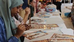 Yabancı öğrenciler Safranbolu'da el sanatlarını öğreniyor
