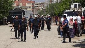 Diyarbakırda elektrik hatlarının yenilenmesi sırasında gerginlik