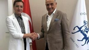 Başkan Bademden Rektör Hotara ziyaret