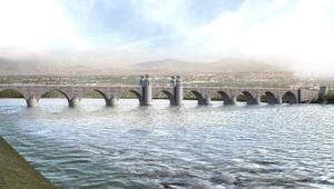 Diclenin iki yakası, 327 metrelik taş köprüyle bağlanacak