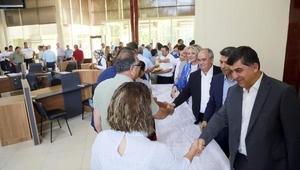 Başkan Fadıloğlu, personelle bayramlaştı