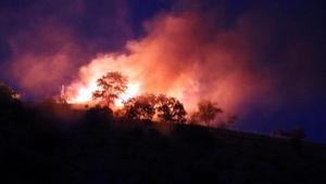 Askeri bölgede yangın paniği