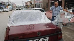 Kastamonuyu dolu yağışı vurdu; 370 araç ve 90 evde hasar (2)