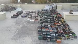 491 akü çalan 2 kişi tutuklandı