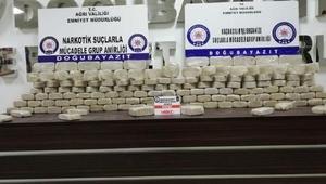 Ağrı'da 108 kilo eroin ele geçirildi