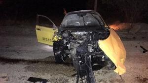 Otomobil ile taksi çarpıştı: 1 ölü, 2 yaralı