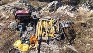 Amasya'da patlayıcıyla kaçak kazıya 6 gözaltı