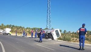 Karamanda cenaze dönüşü kaza: 1 ölü, 7 yaralı