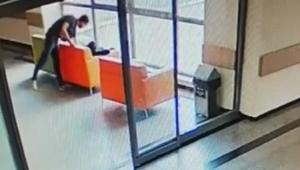 Hastanedeki cep telefonu hırsızı, kameradan yakalandı