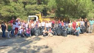 Turgutreis Tabyasında çevre temizliği yaptılar