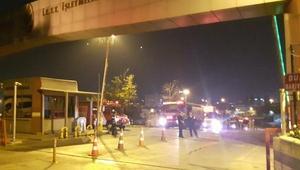 İkitelli İETT Otobüs Garajı idare binasının çatısında yangın