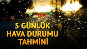 İstanbulda bugün hava nasıl olacak İşte Meteorolojiden 5 günlük hava durumu raporu