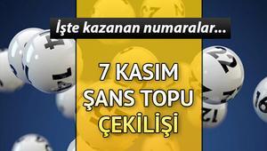 Şans Topu sonuçları açıklandı... 7 Kasım Şans Topu sonuçları sorgulama sayfası