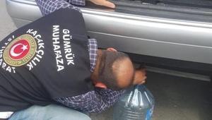 Sınır kapısında otomobil yakıt deposunda 140 kilo bal ele geçirildi