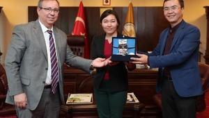 Kırgizistan Oş Devlet Üniversitesinden, Trakya Üniversitesine ziyaret