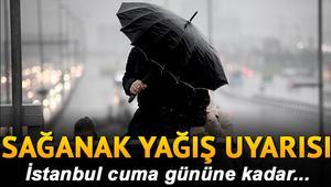 İstanbulda kar ne zaman yağacak Meteorolojiden sağanak yağış uyarısı
