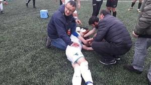 Amatör Küme maçında futbolcu ölümden döndü