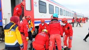 112den tren kazası tatbikatı