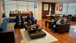 Havalimanı Müdürü Şahbaz, Başkan Gökhanı ziyaret etti