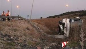 Bilecikte otobüs şarampole devrildi: 27 yaralı
