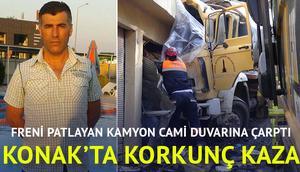 İzmirde feci kaza 1 ölü 2 yaralı