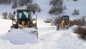 Erzincanda 103 köy yolu kardan ulaşıma kapandı
