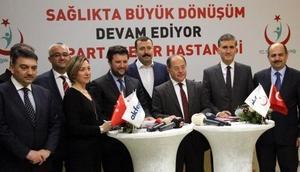 Başbakan Yıldırımın açacağı Isparta Şehir Hastanesi'nin kabul protokolü imzalandı