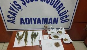 Adıyamanda uyuşturucuya 3 gözaltı