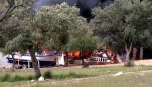 Muğlada ev yangını
