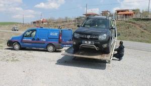 Sinop'ta çalınan araç, Çorum'da bulundu