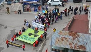 Sinopta nükleer santral protestosu